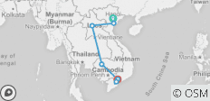 Kingdoms of Southeast Asia Vietnam, Laos and Cambodia (Hanoi to Ho Chi Minh City) - 7 destinations