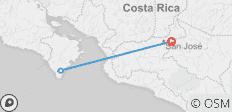Costa Rica Beginner Surfing  - 3 destinations