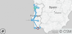 Portugal Rail Route - 25 destinations