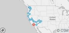 Seattle to Los Angeles - 20 destinations