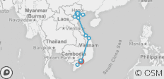 Go Vietnam Hop On/Hop Off - 15 Day - 12 destinations