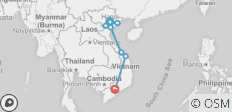 Go Vietnam Hop On/Hop Off - 10 Day - 9 destinations