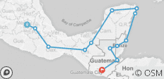 Mexico City to Antigua - 13 destinations