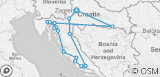 Croatian Football Rhapsody Tour - 18 destinations