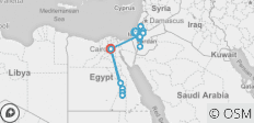 19-Day Holy Land Israel, Jordan and Egypt tour - 17 destinations