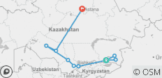 Across the Kazakh Steppe - 10 destinations