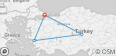 Turkey Highlights - 6 destinations