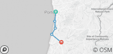 Porto to Coimbra Self-Guided Cycling - 5 destinations