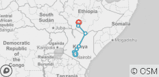 Africa East & South between Arba Minch and Nairobi (Arba Minch to Nairobi) - 7 destinations