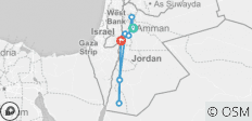 7 Days Jordan Jewels (Daily Breakfast & Dinner) - 7 destinations