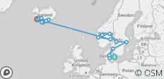 The Scandinavian with Iceland (from Copenhagen to Reykjavik) - 22 destinations
