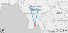 Essential Myanmar in Short Time - 7 Days - 7 destinations