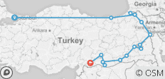 Eastern Borders of Turkey - 16 destinations