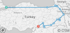 Eastern Borders of Turkey - 15 destinations