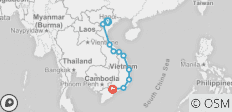 Top Gear Vietnam Motorbike Tour from Hanoi to Saigon on Chi Minh Trail - 10 destinations