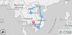 Indochina Heritage Tour to Laos, Vietnam and Cambodia - 14 destinations