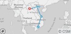 Vietnam Laos Package Tour via Saigon, Hoi An, Hanoi, Halong Bay, Luang Prabang - 8 destinations