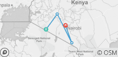 6 Days Camping Safari in Masai Mara ,Lake Nakuru ,Amboseli , Kenya - 4 destinations