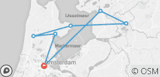 Cruise on the IJsselmeer, one of Holland\'s treasures (port-to-port cruise) - 7 destinations