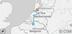 Tulip time in Holland (port-to-port cruise) - 5 destinations