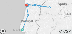 Lisbon, Porto and the Douro valley and Salamanca (including Vega de Terron) - 12 destinations