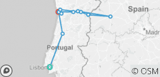 Lisbon, Porto and the Douro valley (Portugal) and Salamanca (Spain) (port-to-port cruise) - 12 destinations