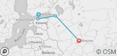 Big Red to Red Star 2019-20 (Moscow via Overnight Train) - 4 destinations