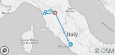 Tuscany and Rome 7days - 8 destinations