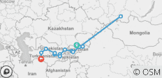 Bishkek to Ashgabat - 15 destinations