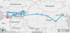 Ultimate Silk Road: Beijing to Ashgabat - 32 destinations
