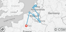 Holland, Luxembourg & Belgium with Paris 2019 (11 destinations) - 11 destinations