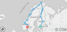 Northern Highlights & the Arctic Circle (from Helsinki to Oslo) - 18 destinations
