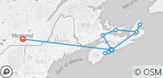 Atlantic Canada\'s Coastal Wonders with Ocean train to Montréal - 11 destinations