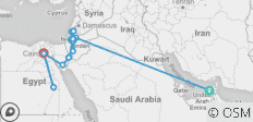 19 Days Dubai, Jordan, Holy Land & Egypt  - 16 destinations