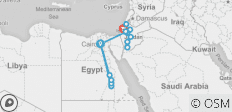 13 Day Egypt, Jordan & Israel Adventure Tour - by Felucca - 16 destinations