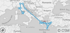 Italy & Greece Including Cruise (inside Cabin - Ia) 2019 - 21 destinations