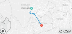 14-Day Cycle Chengdu to Guiyang: pandas, dinosaurs, high-quality liquors and ancient towns - 4 destinations