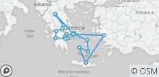 Best of Greece with 7 Day Cruise (July/ August, 16 Days) - 18 destinations