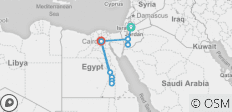 Egypt and Jordan 10 Days Deluxe Tour - 9 destinations