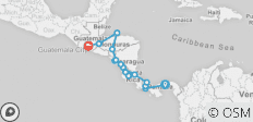 Central American Explorer (2019 May Onwards) - 18 destinations