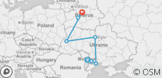 Discover Moldova, Ukraine and Belarus - Northbound - 8 destinations