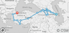 Turkey & Caucasus Explored (Baku to Istanbul) - 21 destinations