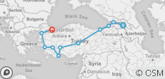 Silk Route between Istanbul and Tbilisi (Tbilisi to Istanbul) - 11 destinations