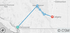 Canadian Rockies by Train  (Vancouver, BC to Calgary, AB) (2019) - 9 destinations
