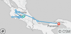 Cycle Costa Rica & Panama - 12 destinations