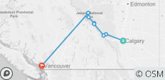Canadian Rockies by Train  (Calgary, AB to Vancouver, BC) (2019) - 8 destinations