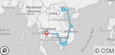 Highlights of Vietnam, Cambodia & Thailand 19 days - 19 destinations
