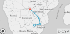 7 Day African Insight (Ex Pretoria) 2019-20 (Hazyview ) - 5 destinations