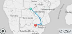 7 Day African Insight (Ex Livingstone) 2019-20 - 5 destinations