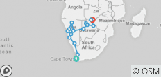 19 Day Desert Tracker 2019-20 (Cederberg Region, Namib Naukluft National Park , Nata, Kasane) - 16 destinations